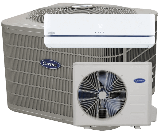 Carrier performance air conditioner ductless split